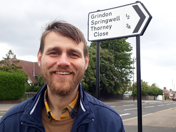 Stephen O'Brien, Lib Dem councillor for Grindon and Thorney Close