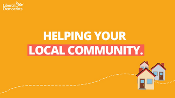 Three houses beneath text which reads HELPING YOUR LOCAL COMMUNITY
