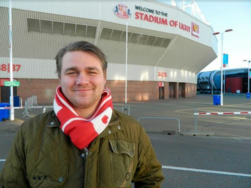 Stephen O'Brien at the Stadium of Light