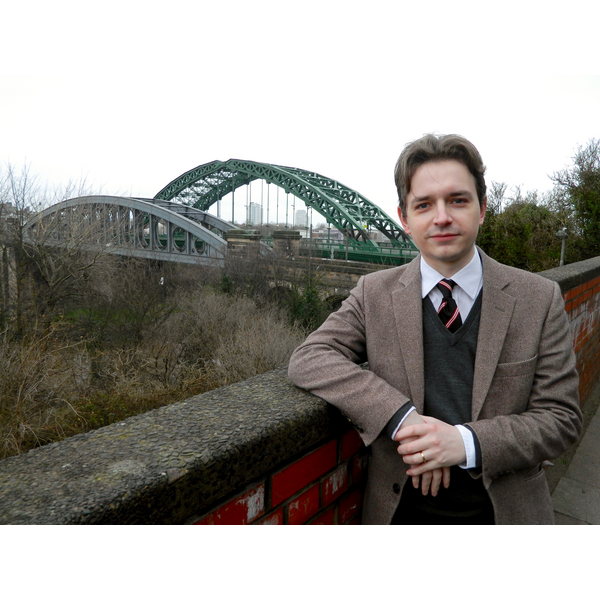 Niall Hodson at the Wearmouth bridges